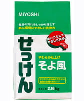 MIYOSHI Порошковое мыло для стирки на основе натуральных компонентов (с ароматом цветочного букета), 2160 гр.