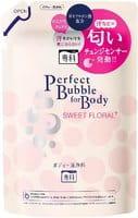 SHISEIDO «Perfect Bubble for Body» Увлажняющее пенное мыло для тела с длительным дезодорирующим эффектом, со сладким цветочным ароматом, запасной блок, 350 мл.