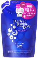 SHISEIDO «Perfect Bubble for Body» Увлажняющее пенное мыло для тела с длительным дезодорирующим эффектом, с цветочным ароматом, запасной блок, 350 мл.