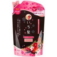 KRACIE «Ichikami» Разглаживающий кондиционер для повреждённых волос, с экстрактом дикого риса, запасной блок, 360 г.