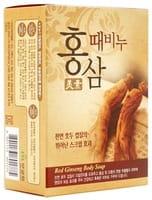 MUKUNGHWA «Red Ginseng Body Soap» Целебное отшелушивающее мыло для тела c женьшенем, 100 г.