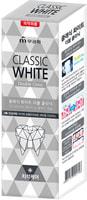 """Mukunghwa """"Classic White"""" Отбеливающая зубная паста двойного действия, с микрогранулами, аромат мяты, 110 гр."""