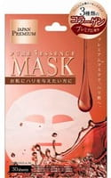 JAPAN GALS «Pure5 Essence Premium» Маска для лица c тремя видами коллагена, 30 шт.
