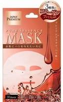 "Japan Gals ""Pure5 Essence Premium"" Маска для лица c тремя видами коллагена, 30 шт."
