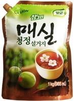 "CJ Lion ""Chamgreen"" Средство для мытья посуды, с ароматом японского абрикоса, мягкая упаковка, 960 мл."