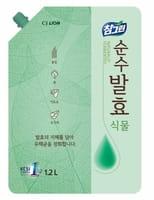 CJ LION «Chamgreen Pure Fermentation» Средство для мытья посуды «Растительные ферменты», мягкая упаковка, 1200 мл.