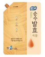 CJ LION «Chamgreen Pure Fermentation» Средство для мытья посуды «5 злаков», мягкая упаковка, 1200 мл.