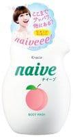 """Kracie """"Naive"""" Увлажняющий гель для душа, с экстрактом и ароматом персика, 530 мл."""