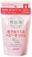 Miyoshi Пенящееся жидкое мыло на основе натуральных компонентов, 220 мл. Сменный блок.