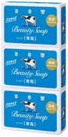 "COW ""Beauty Soap"" Туалетное мыло с молоком, с ароматом свежести, коробка - 3 шт. по 135 г."