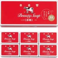 "COW ""Beauty Soap"" Молочное туалетное мыло с ароматом цветов, коробка - 6 шт. по 100 гр."