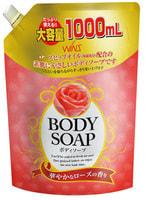 """Nihon """"Wins Body Soup Rose"""" Крем-мыло для тела с розовым маслом и богатым ароматом, сменная упаковка, 1 литр."""