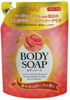 """Nihon """"Wins Body Soup Rose"""" Крем-мыло для тела с розовым маслом и богатым ароматом, сменная упаковка, 400 мл."""