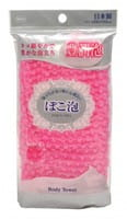 Ohe Corporation «Pokoawa Body Towel» Мочалка для тела средней жёсткости, розовая.