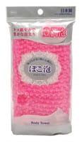 """Ohe Corporation """"Pokoawa Body Towel"""" Мочалка для тела средней жёсткости, розовая."""