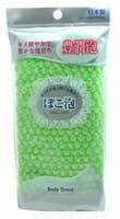 Ohe Corporation «Pokoawa Body Towel» Мочалка для тела средней жёсткости, зелёная.