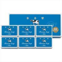 """COW """"Beauty Soap - Чистота и свежесть"""" Молочное освежающее мыло, синяя упаковка, 6 шт.×85 гр."""