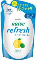 KRACIE Мыло жидкое для тела с ароматом цитрусовых, сменная упаковка, 380 мл.