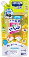 """KAO """"Quick Le"""" Моющее средство для дома с дезинфицирующим эффектом, с ароматом лимона, сменная упаковка, 250 мл."""