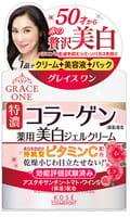 """KOSE Cosmeport """"Grace One"""" Антивозрастной крем для лица c отбеливающим эффектом и витамином С, 3 в 1 после 50 лет, банка 100 гр."""