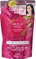 """KOSE Cosmeport """"Grace One"""" Тритмент для волос """"Упругость и сияние"""", для женщин старше 50 лет, без силикона, с ароматом роз и фруктов, сменная упаковка, 330 мл."""