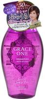 """KOSE Cosmeport """"Grace One - Объем и гладкость"""" Шампунь для волос после 50 лет, без силикона, с ароматом роз и фруктов, диспенсер, 400 мл."""