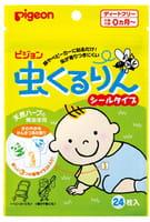 PIGEON Пластырь для защиты от укусов насекомых, с экстрактом масла эвкалипта и цитронеллы, для детей с рождения, 24 шт.