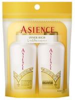 KAO «Asience» Набор: увлажняющий шампунь и кондиционер для волос с маслом арганы и камелии, 2 х 45 мл.