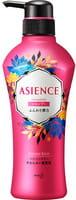 KAO «Asience» Разглаживающий шампунь для волос с маслом арганы и камелии, с ароматом белых цветов, 450 мл.
