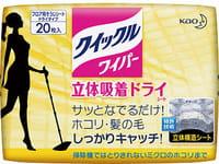 """KAO """"Quick Le"""" Сухие фибросалфетки для швабры, эффективно удаляют пыль и шерсть с мебели, пола, бытовой техники, 20 шт."""