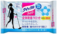 KAO «Quick Le» Влажная фибросалфетка для швабры, с дезинфицирующим эффектом, без аромата, 16 шт.