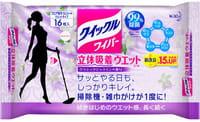 KAO «Quick Le» Влажная фибросалфетка для швабры, с дезинфицирующим эффектом, с ароматом жасмина, 16 шт.