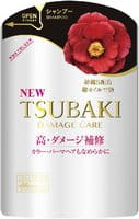 SHISEIDO «Tsubaki Damage Care» Шампунь для повреждённых волос «Восстановление и уход», с маслом камелии и аминокислотами, запасной блок, 345 мл.