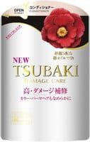 SHISEIDO «Tsubaki Damage Care» Кондиционер для повреждённых волос «Восстановление и уход», с маслом камелии и аминокислотами, запасной блок, 345 мл.