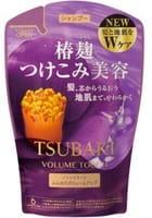 SHISEIDO «Tsubaki Volume Touch» Шампунь для волос «Натуральный объём», с экстрактом камелии и аминокислотами, запасной блок, 345 мл.