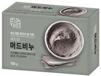 """Mukunghwa """"Mud"""" Массажное мыло с экстрактом масла ши и целебными грязями, 100 г."""