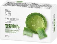 """Mukunghwa """"Fresh Aloe Soap"""" Освежающее косметическое мыло с экстрактом алоэ вера, 100 гр."""