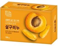 """Mukunghwa """"Rich Apricot Soap"""" Восстанавливающее косметическое мыло с маслом абрикоса, 100 г."""