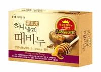 """Mukunghwa """"Honey Body Soap"""" Отшелушивающее и увлажняющее мыло для тела и лица с медом и скорлупой каштанов, 100 гр."""