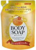 NIHON «Wins Body Soap honey» Увлажняющее крем-мыло для тела с мёдом, 400 мл.