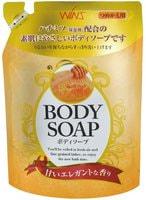 """Nihon """"Wins Body Soap honey"""" Увлажняющее крем-мыло для тела с мёдом, 400 мл."""