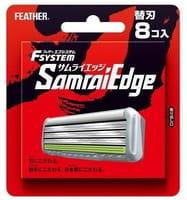 Feather «F-System Samurai Edge» Запасные кассеты с тройным лезвием для станка, 4 шт.