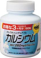 Orihiro Кальций+витамин D, со вкусом йогурта, 180 жевательных таблеток.