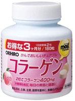 ORIHIRO Коллаген со вкусом персика, 180 жевательных таблеток.