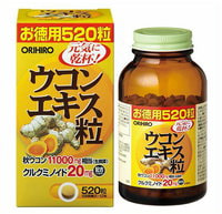 Orihiro Экстракт куркумы, 520 таблеток.