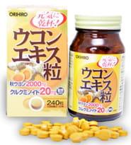 ORIHIRO Экстракт куркумы, 240 таблеток.
