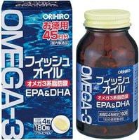 ORIHIRO Омега-3, 180 мягких капсул.