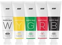 B&SOAP Набор из пяти разных по цвету и функциям масок-красок для лица, 5 х 25 г.