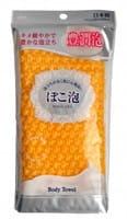 Ohe Corporation «Pokoawa Body Towel» Мочалка для тела средней жёсткости, жёлтая.