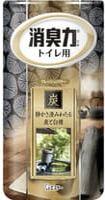 """ST """"Shoushuuriki"""" Жидкий дезодорант – ароматизатор для туалета, на основе древесного угля, c ароматом сандалового дерева, 400 мл."""